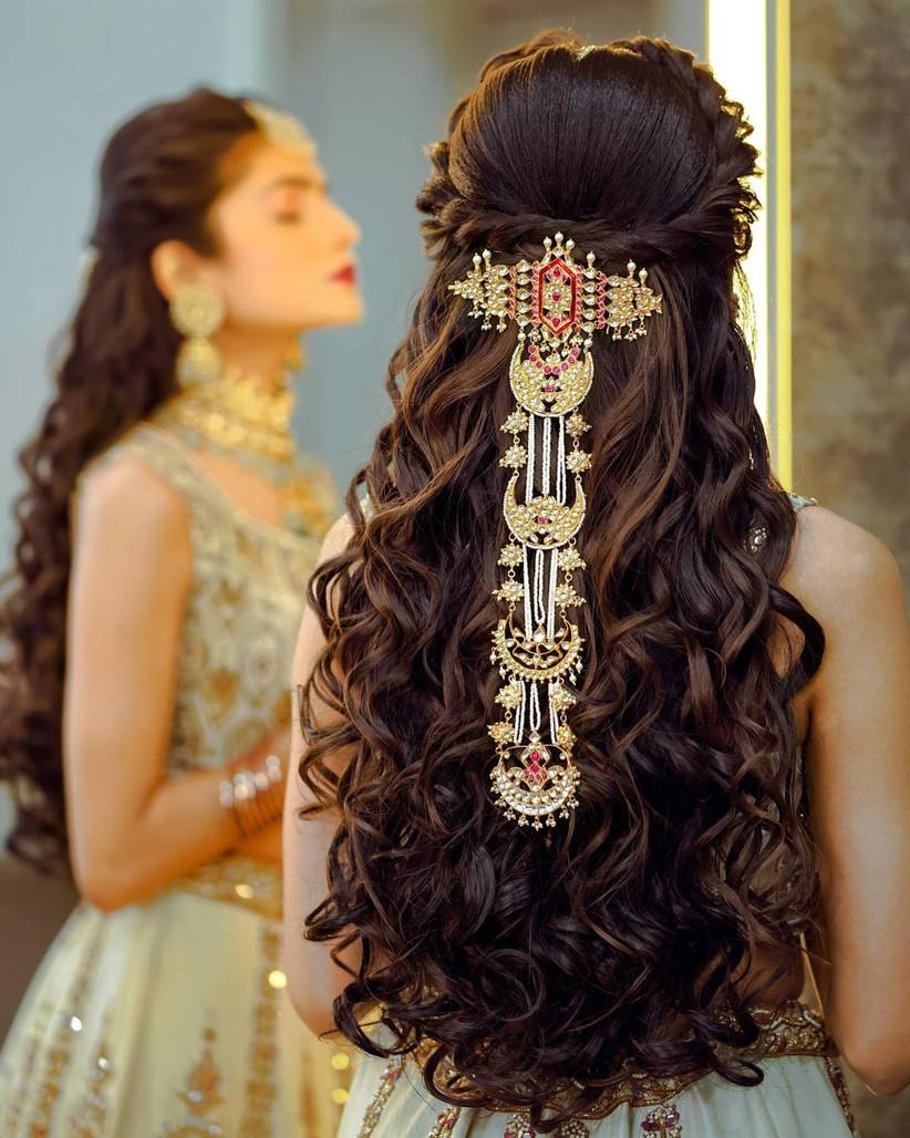 hair style girl for wedding open hair