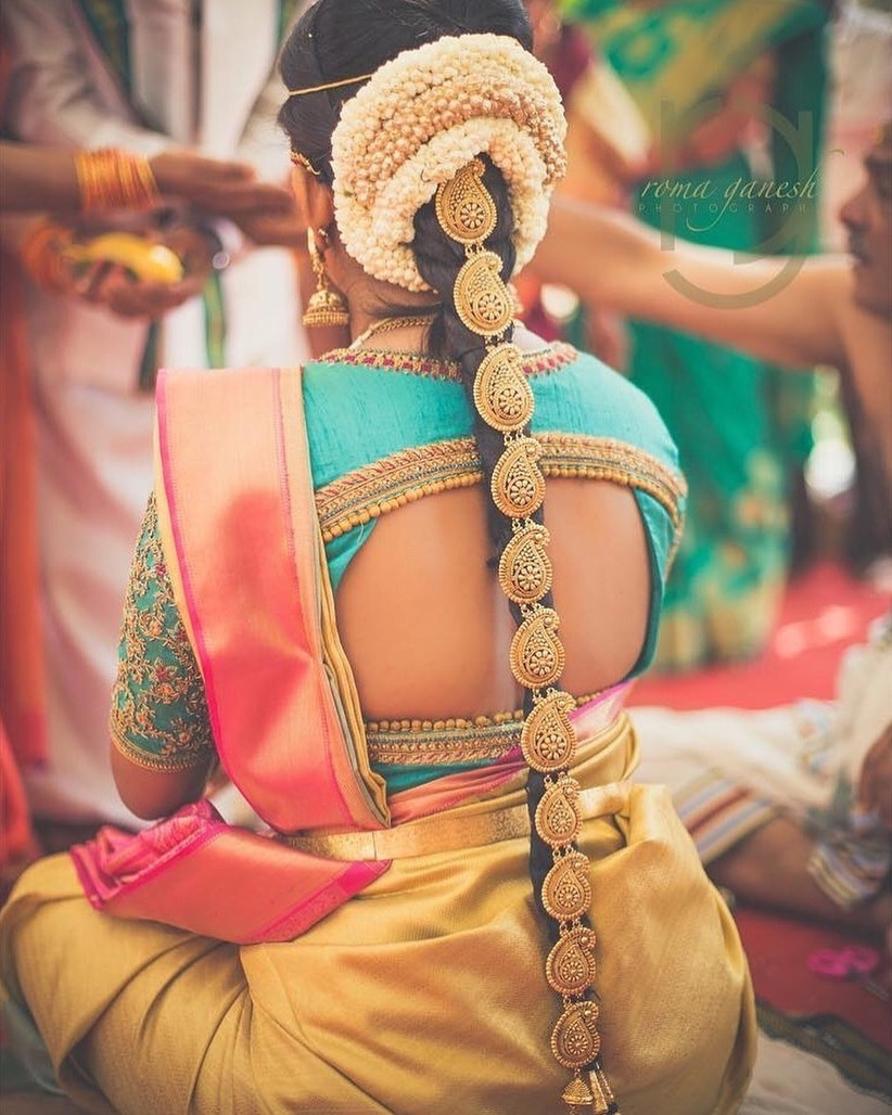 traditional south indian wedding reception hairstyles