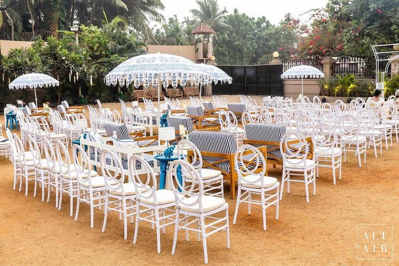 White Wedding Theme by Altair Decor