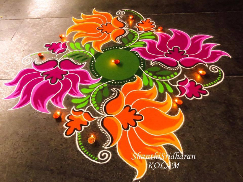 101 Rangoli Designs To Make Sure Your Wedding Is The Prettiest Of