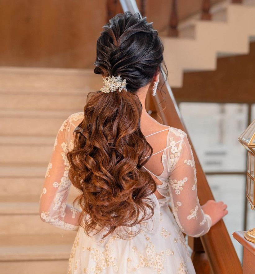volume ponytail hairstyle for indian girls