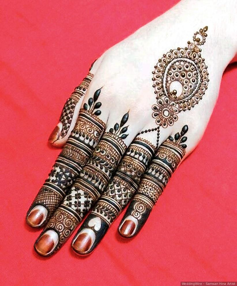 Finger Henna Designs Mehndi Designs For: 11 Gorgeous Finger Mehndi Designs For The Bride And Her