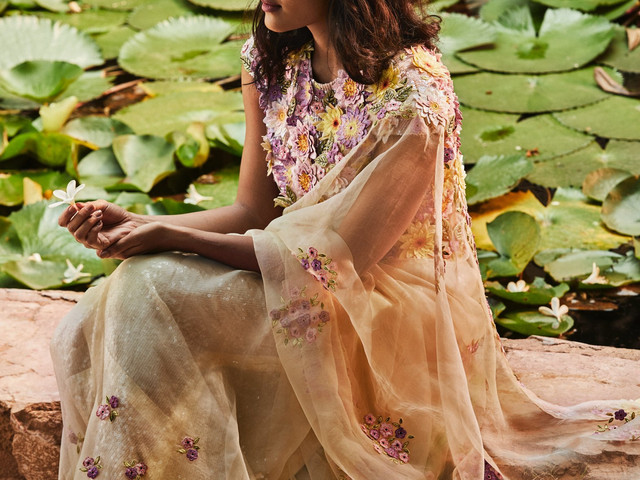 Designer Rahul Mishra Unveils an Earth Song 'Lotus Pond' at FDCI India Couture Week 2020