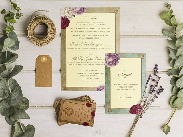 Looking for Wedding Cards in Bangalore? Check out These Amazing Options and Get Started on Your Wedding Day Prep