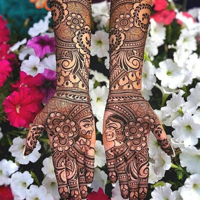 romantic simple mehndi designs