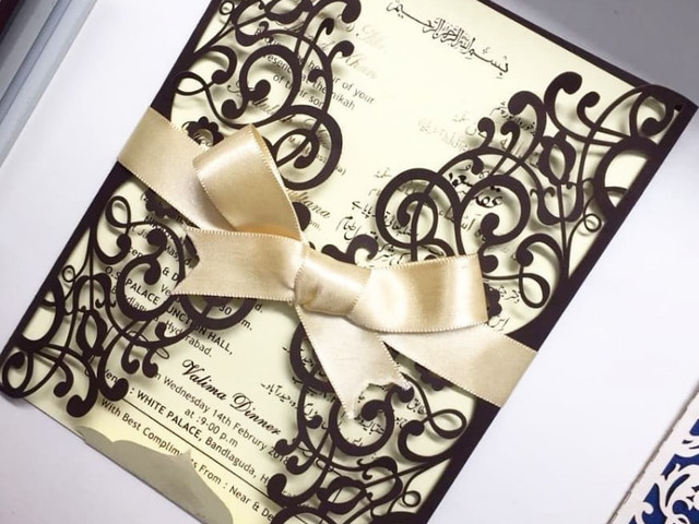 Here S All The Detailing In Muslim Wedding Invitation Cards That You Can Use To Craft Your Own