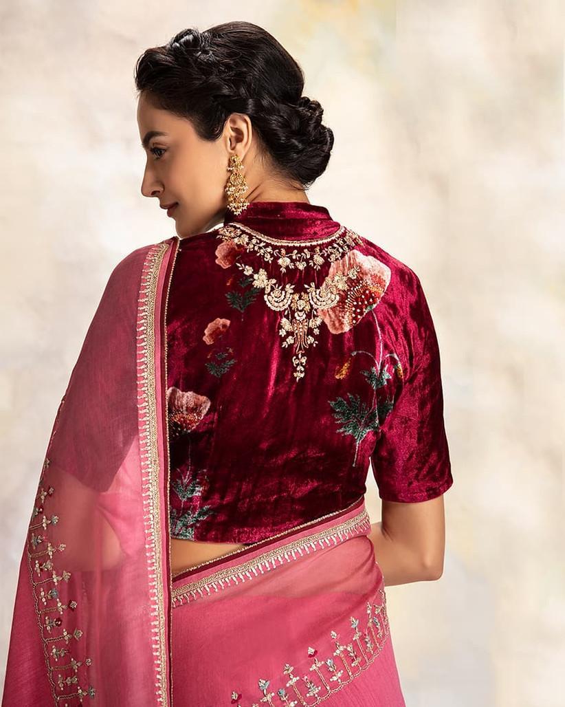 11 Trending Velvet Blouse Designs For The Stunning Brides Of Today