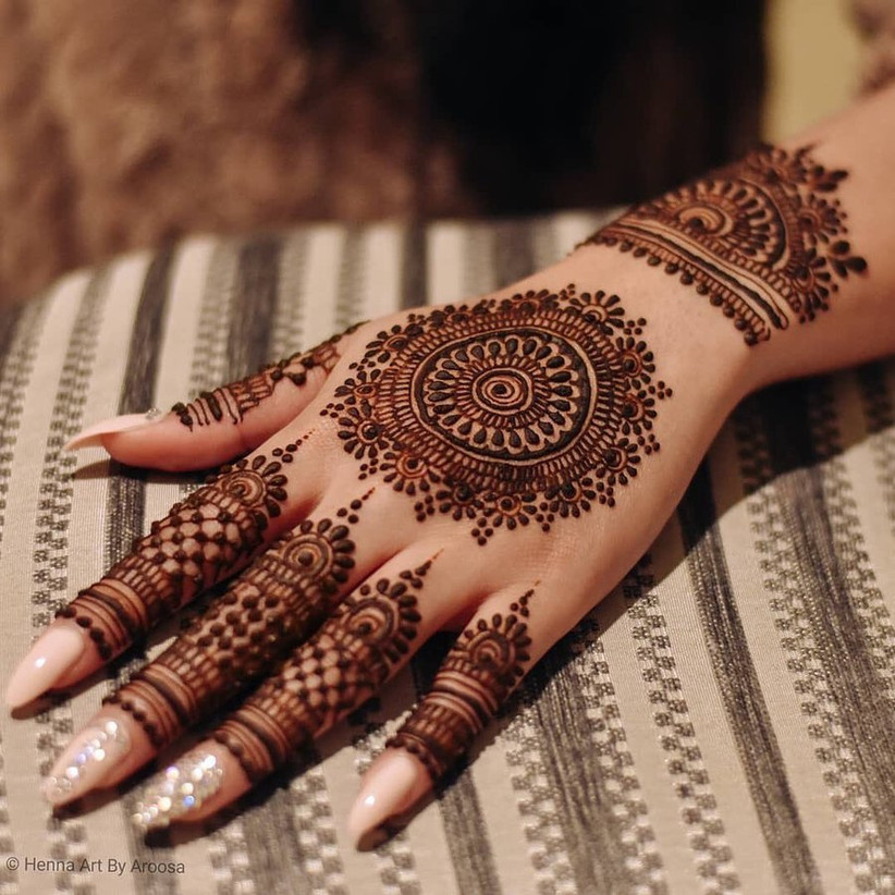 Half Hand Mandala Mehndi Design