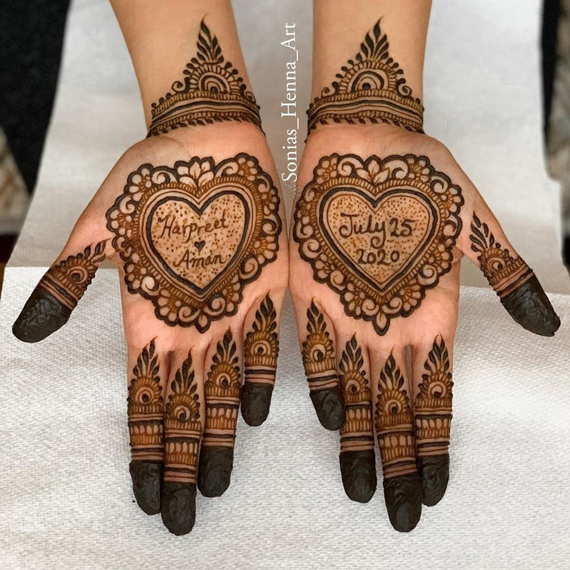 simple henna designs for palm