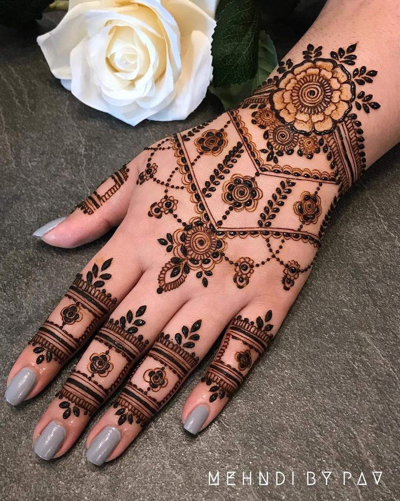 Easy Arabic Mehndi Designs For Left Hand Add That Regal