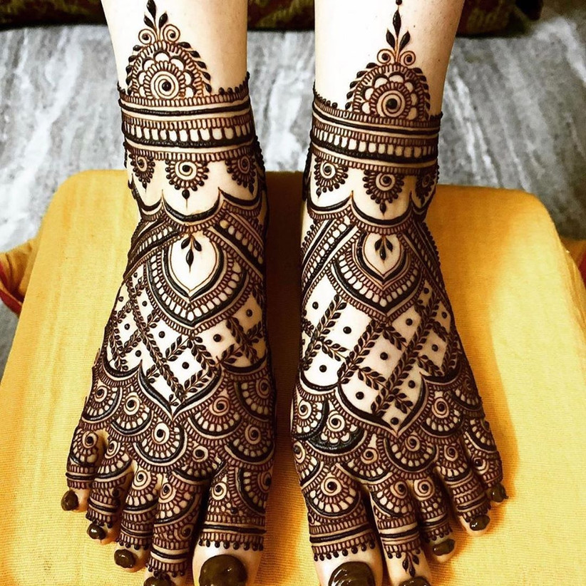 Traditional Leg Mehndi