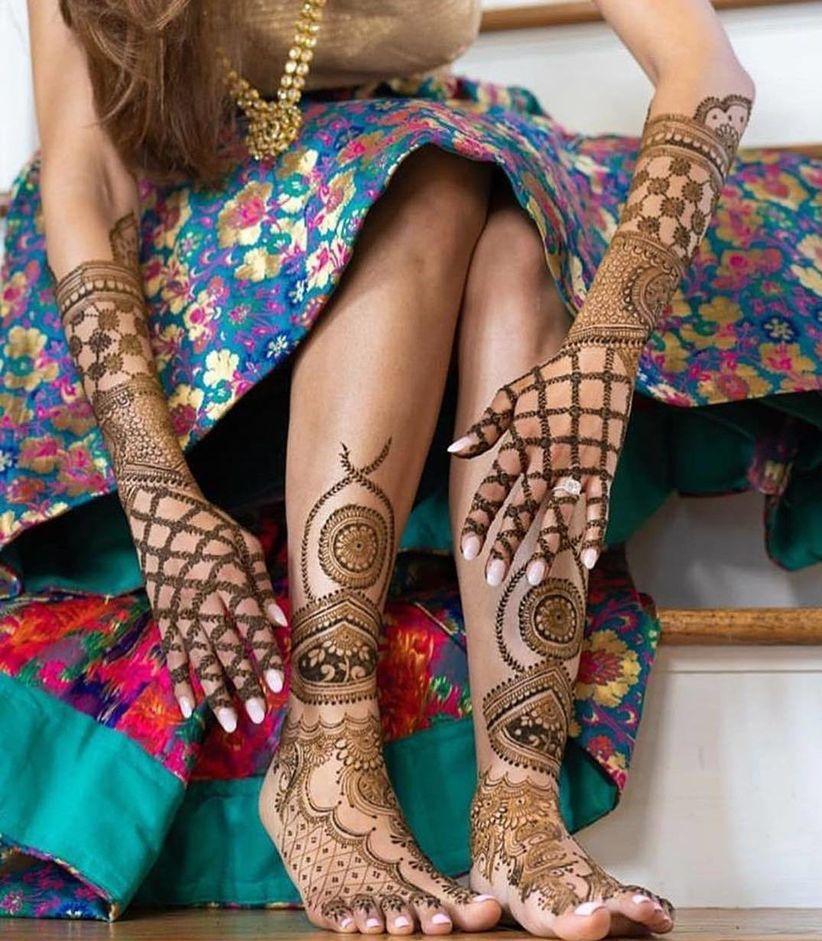 traditional simple mehndi design