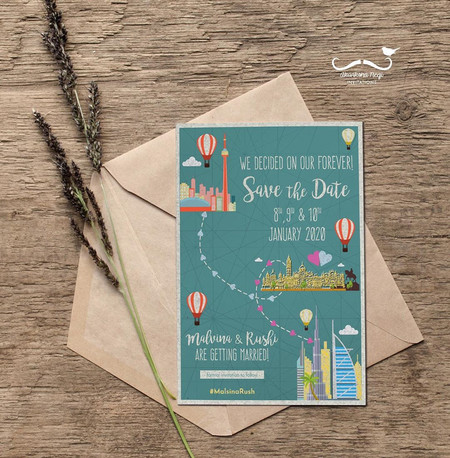 Quirky & Fun Save the Date Ideas for Destination Weddings