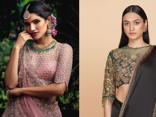 15+ Brides Show Us How to Pair Maggam Work Blouses for the D-day