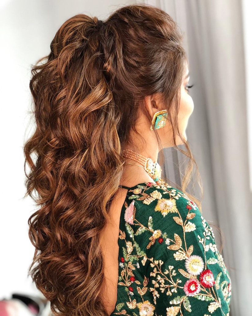 This Only Guide For The Indian Bridal Hairstyle Step By Step