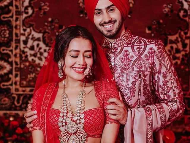 Neha Kakkar Tied the Knot With Singer Beau Rohanpreet in a Breathtaking Red Lehenga