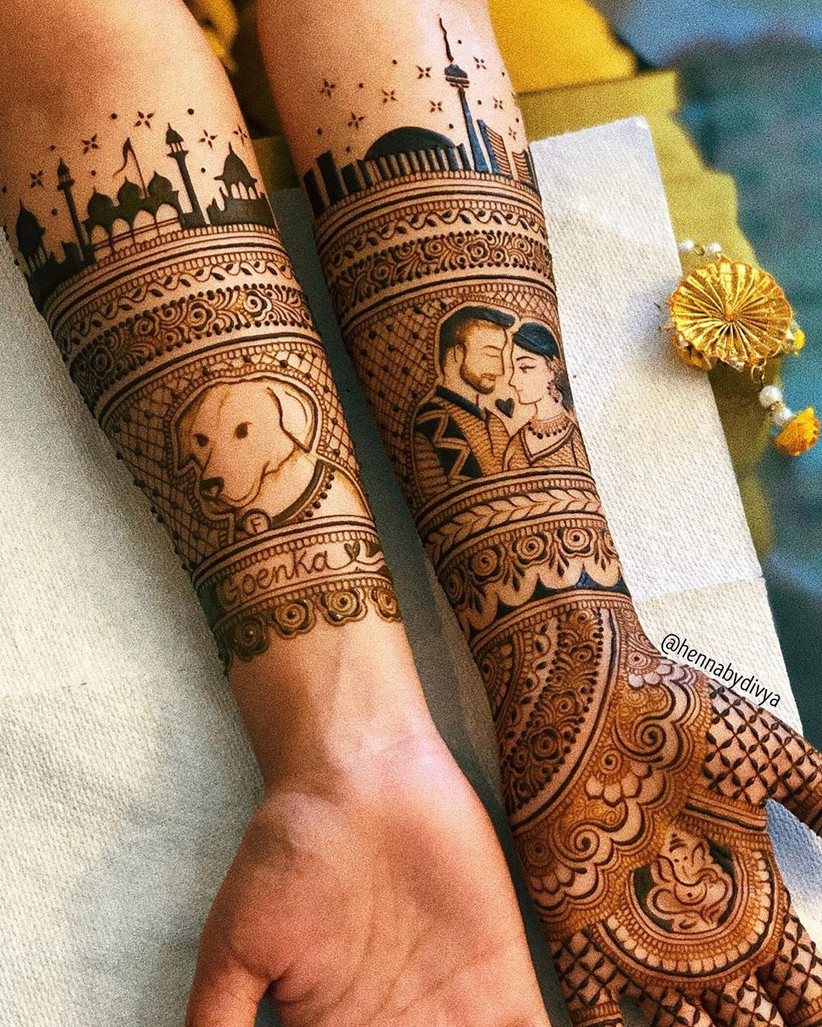stylish mehndi design