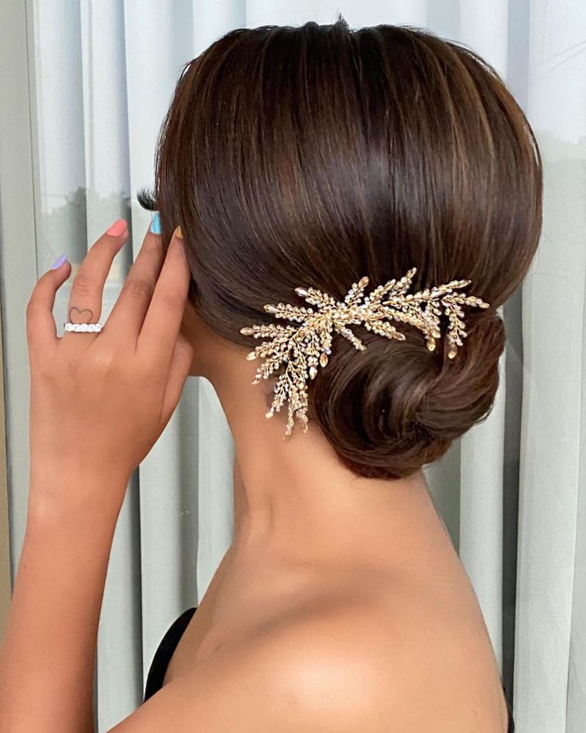 bun hair style for indian girls