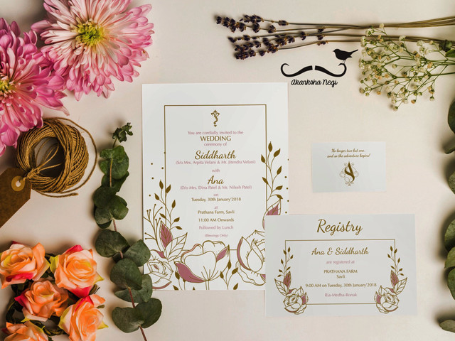 From Plantable to Hand-painted, FAB Wedding Invitation Trends of 2019