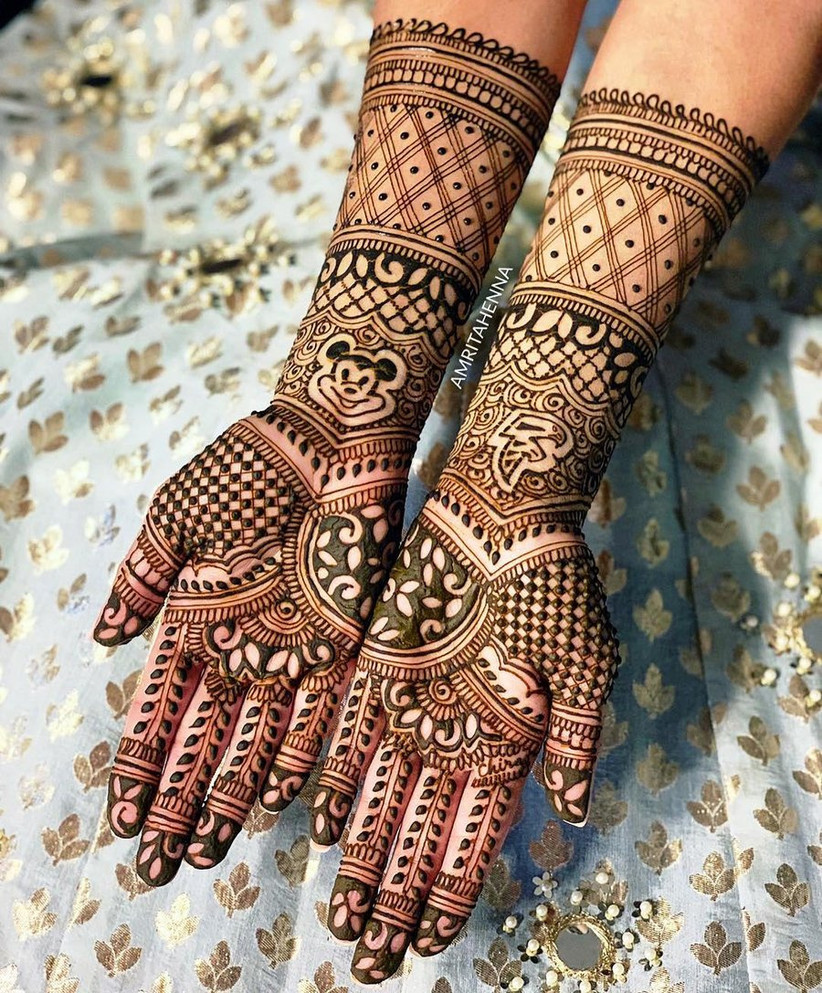 Cartoon Inspired Full Hand Mehndi