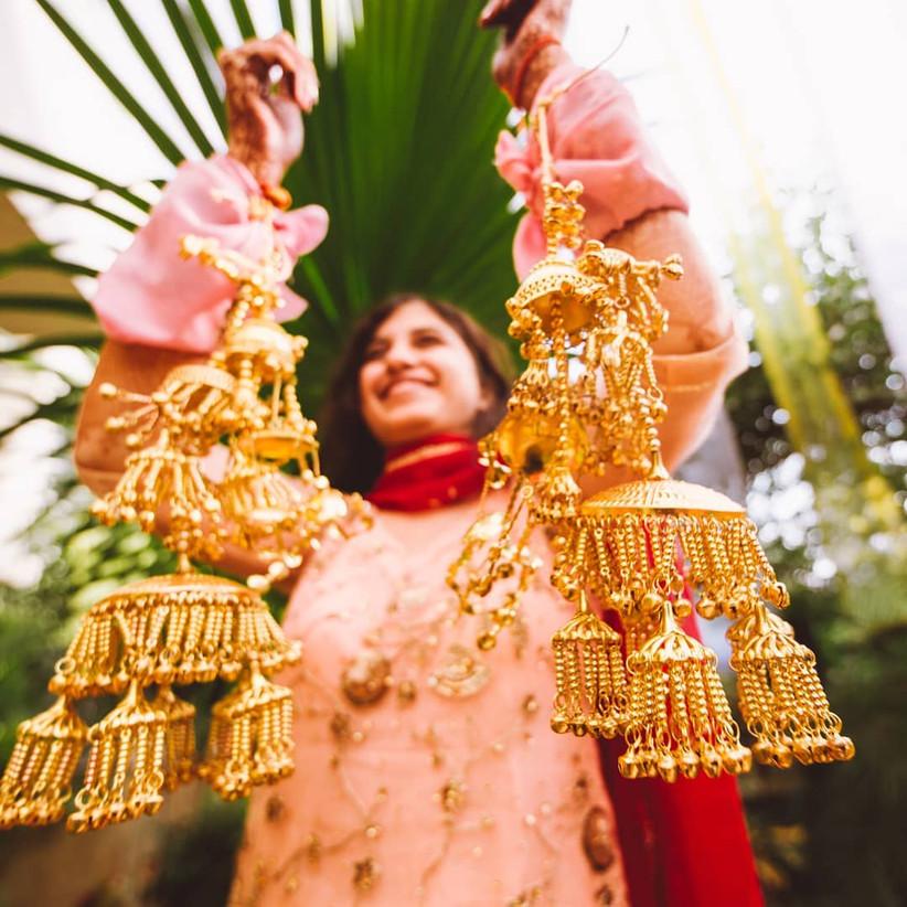 Punjabi bride with Kaleeras