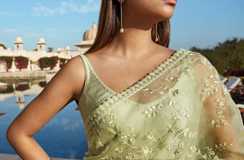 8 Net Saree Designs for Your D-day That Will Make You Swoon