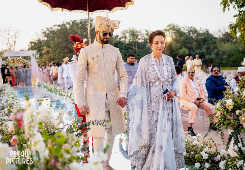 Hanna S Khan wedding groom entry