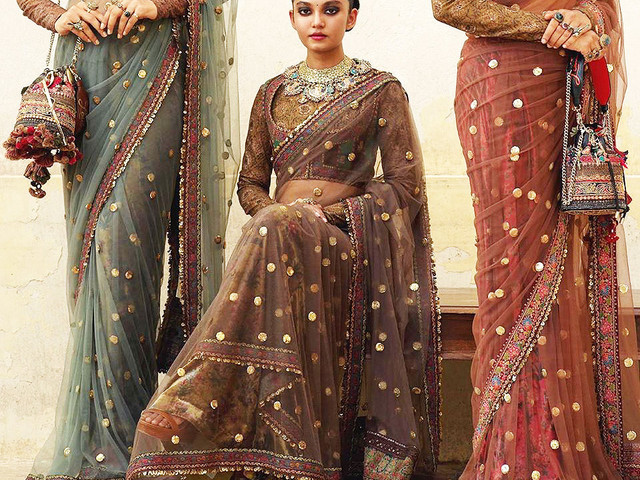 8 Net Sarees Images Perfect for Every Wedding Event