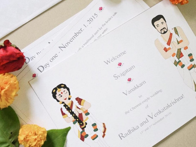 Simple South Indian Wedding Invitation