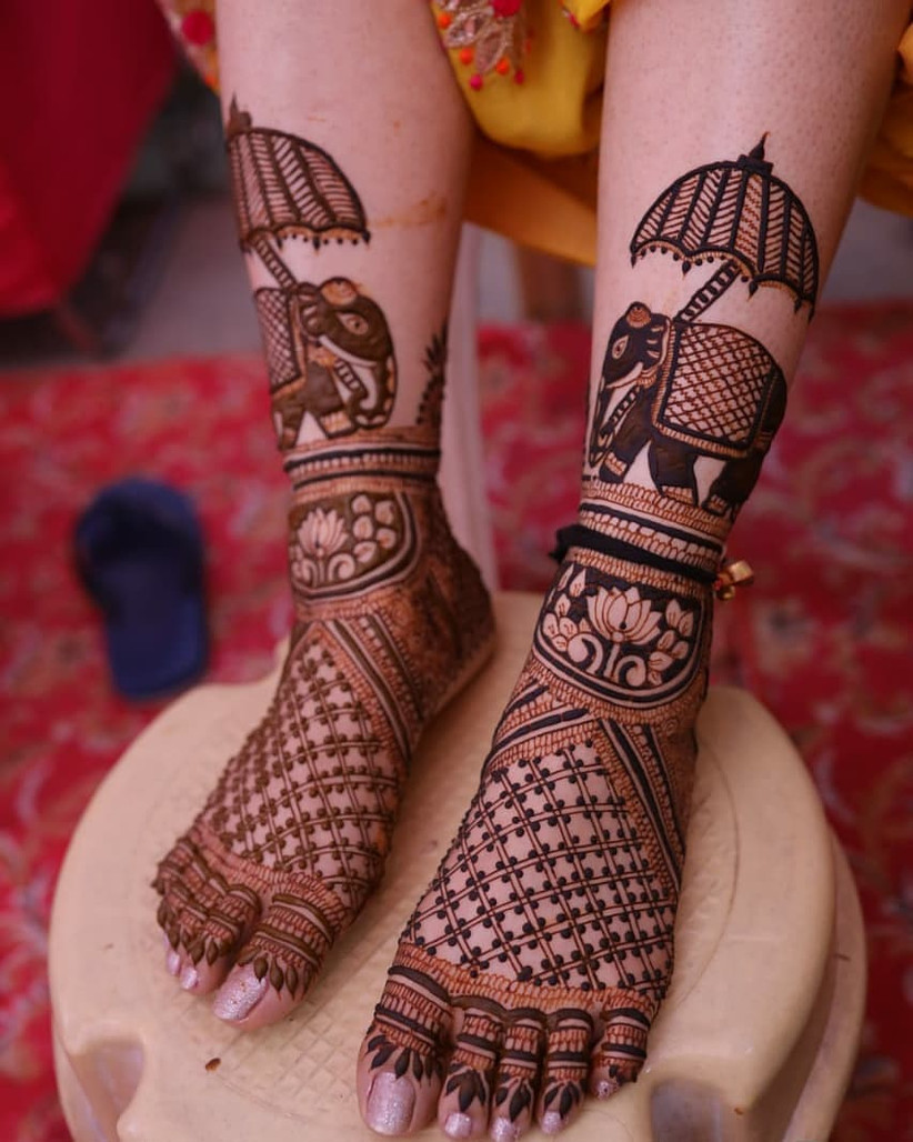 Elephant Mehndi Designs