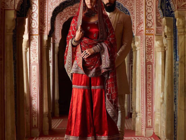 Keep It Stylish with a Sassy Sharara Design and Avoid Getting Weighed down by a Heavy Lehenga on Your D-Day