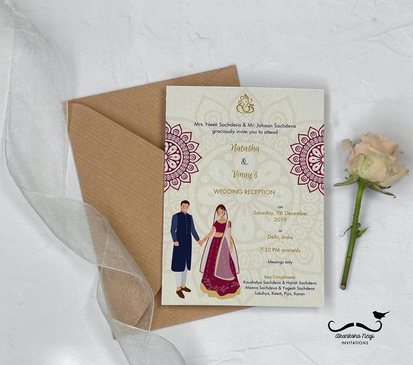 10 Latest Wedding Card Designs For Creative Memorable Invites