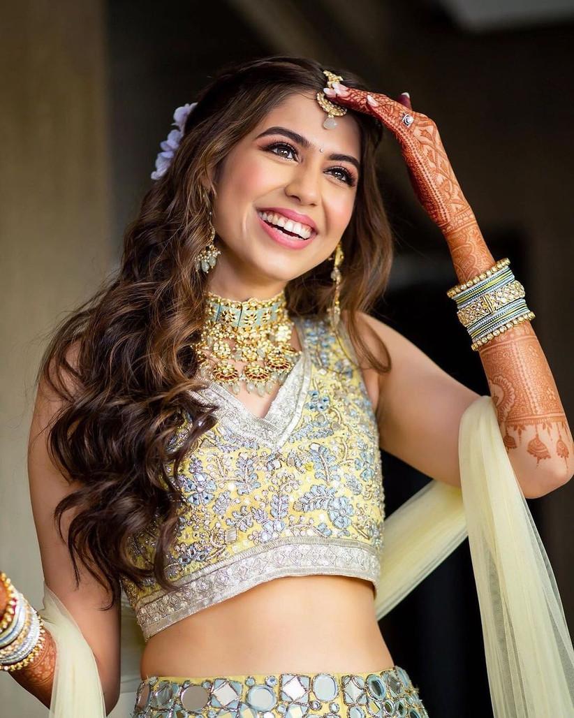 Girl posing in tika