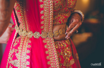 Check Out These Trending Belted Lehengas for the Brides & Bridesmaids