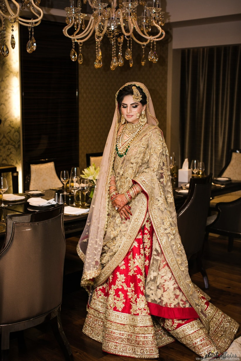 01f7e11ffe Planning on Wearing the Golden Bridal Lehenga for Your D-day? Here ...