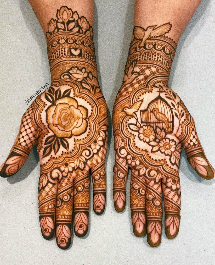 Garden inspired Mehndi Design