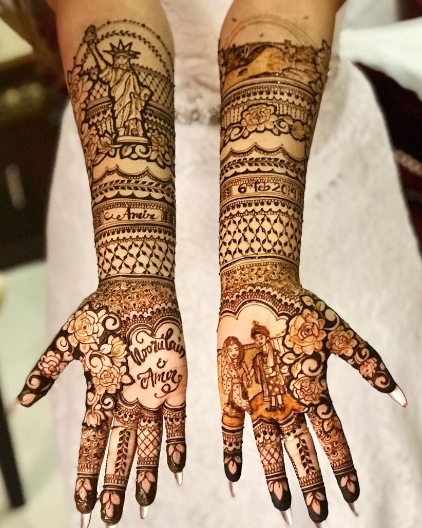 easy bridal mehndi design