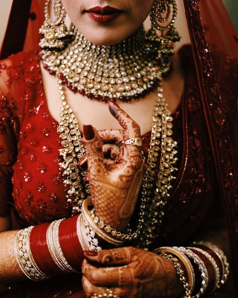 red chura designs for the bride