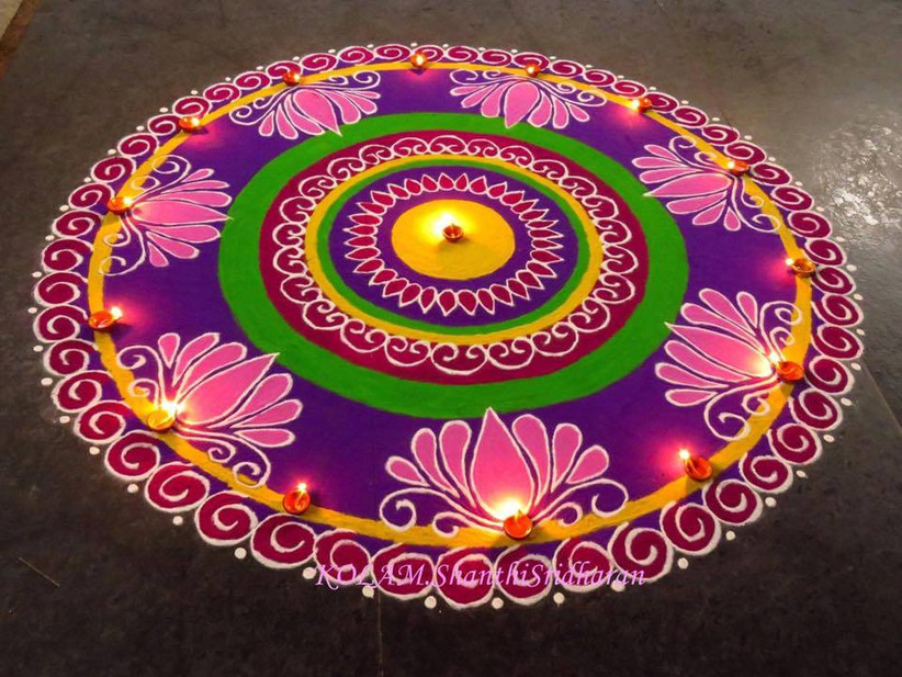 Guide To Make Easy Rangoli Patterns Watch our kolam designs and share your friends and family. guide to make easy rangoli patterns