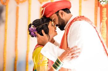 The Intimate Maharashtrian Wedding of Aditi & Shrinidhi at Home