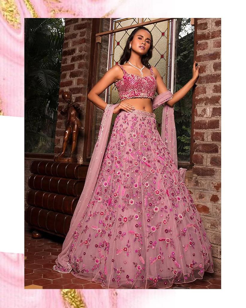 engagement dress lehenga by Natasha Dalal