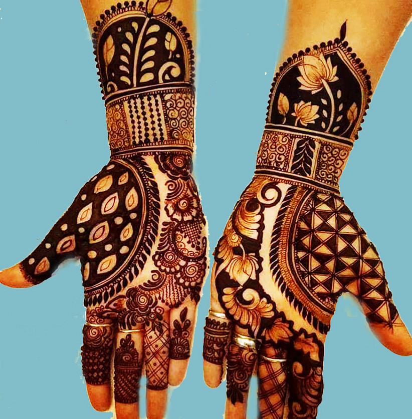 Lovely Mehndi Designs Arabic Simple and Easy for Your Palms