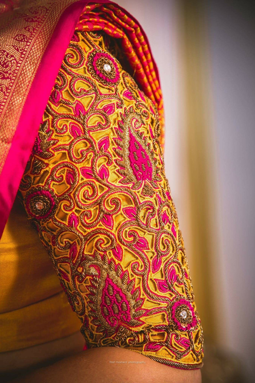 5 Mirror Work Blouses For Pattu Sarees Boutiques To Look Out