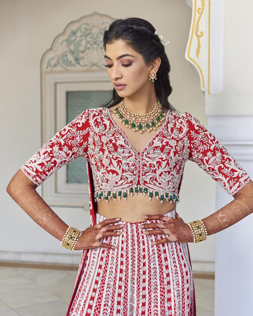 Hanna S Khan wearing Ohaila Khan at her mehndi ceremony
