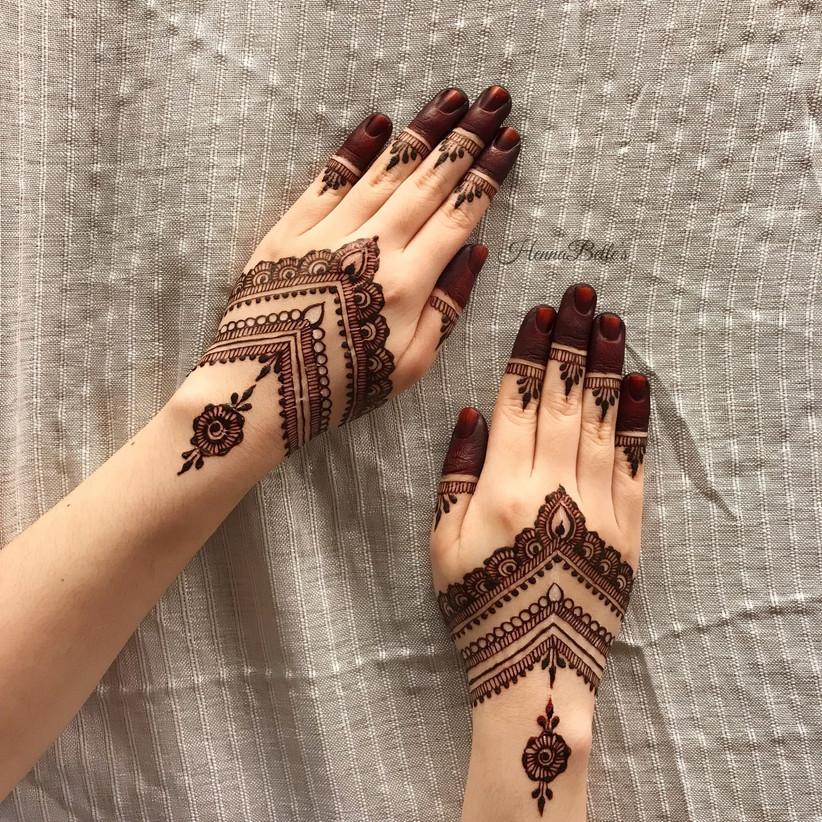 Short Mehndi Designs for Hands