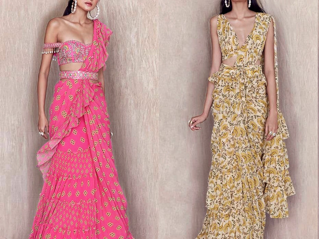 Trending Ruffle Saree Designs for the New Age Bridesmaids