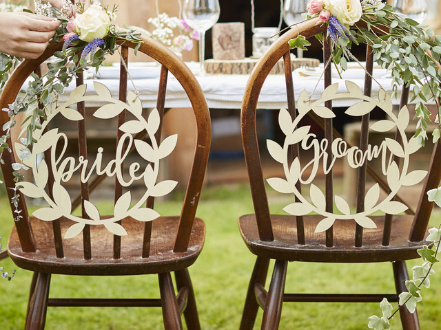 Breathtaking Bride and Groom Chair Decorations for Inspo