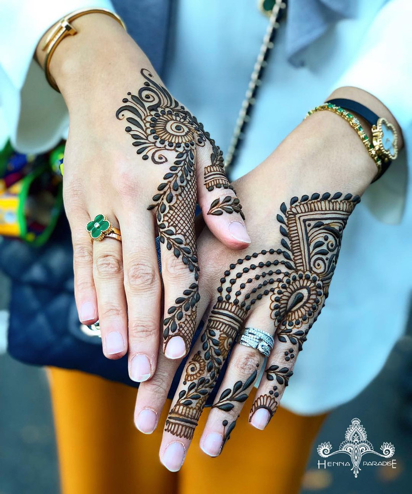9 Beautiful and Simple Back Hand Mehndi Designs That Are