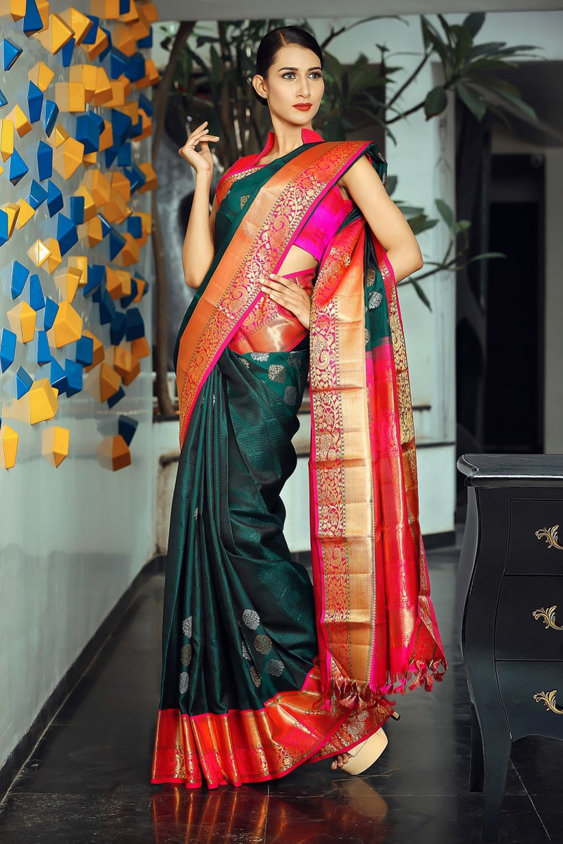 1bc1ce615 6 Stores to Buy Swoon-Worthy Kanchipuram Silk Sarees for Wedding ...
