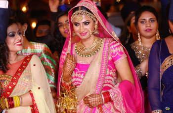 The Only Pink and Gold Lehenga Listicle You Will Need To Flesh Out Your Outfit Fantasy